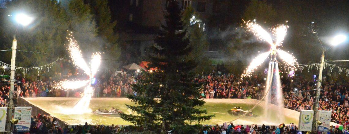 Шоу в бассейне на день города Кирово-Чепецк